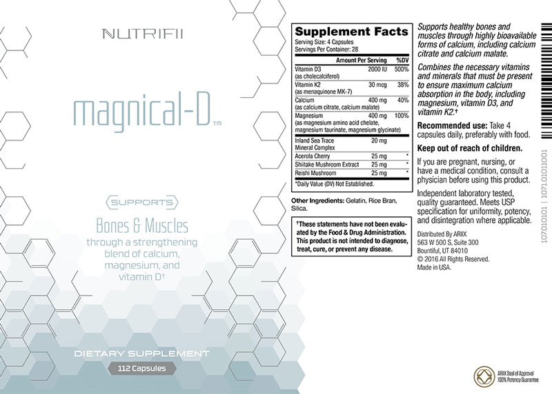 Composition Magnical-D | Nutrifii | Ariix