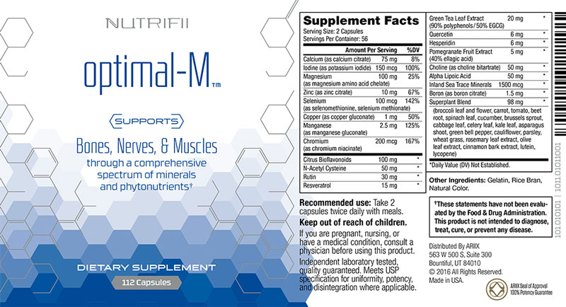 Composition Optimal-M / Nutrifii / Ariix